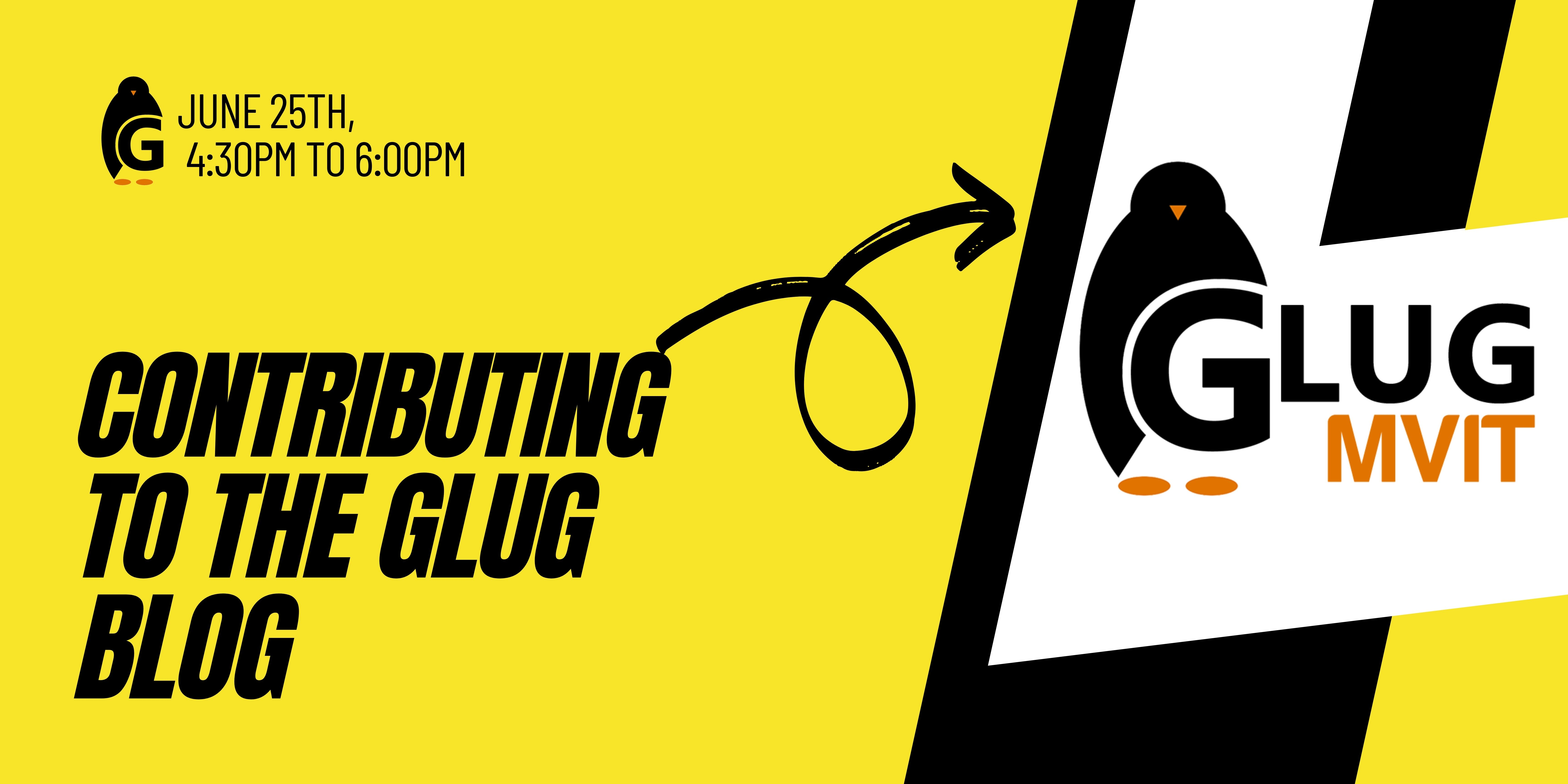 How to contribute to the GLUG Blog